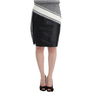 SACHIN & BABI SACHIN & BABI Gray Black Liza Leather Straight Pencil - S