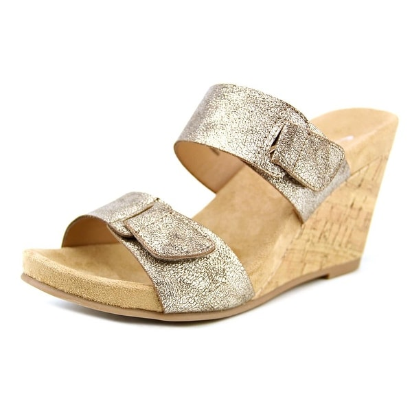 CL By Laundry Team Player Women Open Toe Synthetic Bronze Wedge Sandal