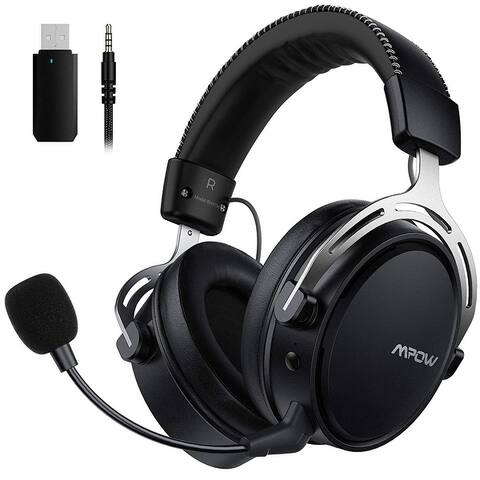 Mpow Air 2.4G Wireless 3D Bass Gaming Headset for PS5/PS4/PC Computer Headset with Dual Chamber Driver, Upto 17 Hours of Use,
