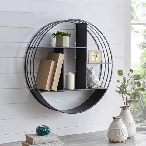 FirsTime & Co. Brody Industrial Circular 27.5-in. Metal Shelf