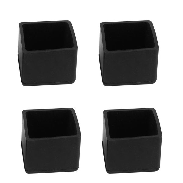 "Table Desk Leg Caps End Tip Home Furniture Protector 4pcs 1""x1"" (25x25mm)"