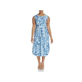 Nic + Zoe Womens Plus Casual Dress Printed Sleeveless (2 options available)