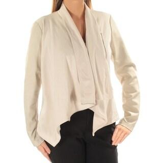 INC $99 Womens New 1354 Beige Open Cardigan Long Sleeve Wear To Work Top L B+B
