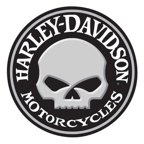 Harley-Davidson Embossed Willie G Skull Button Round Tin Sign, 14 inch 2011021 - 14""