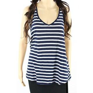 Splendid NEW Navy Blue Womens Size Large L Striped Swingy Tank Top