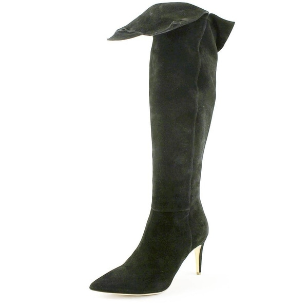 Rupert Sanderson Hazelwood Women Pointed Toe Leather Black Knee High Boot