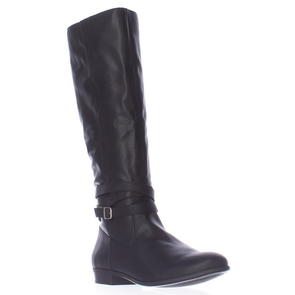 SC35 Fridaa Wide Calf Riding Boots, Black