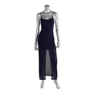 Aqua Womens Textured Sleeveless Casual Dress