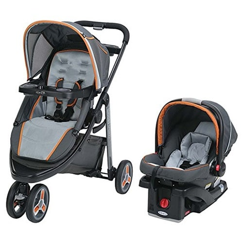 Graco 1965236 Modes Sport Click Connect Stroller Car Seat Travel System - Tangerine