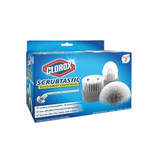 Scrubtastic Refill Brushes - Round Brush, Grout Brush, and Flat Brush - By Clorox