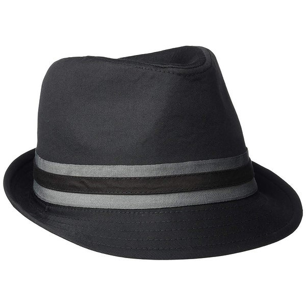 newest 9b8fd 82e78 U.S. Polo Assn. Men's Twill Fedora with Two Color, Black, Size Large/X-Large