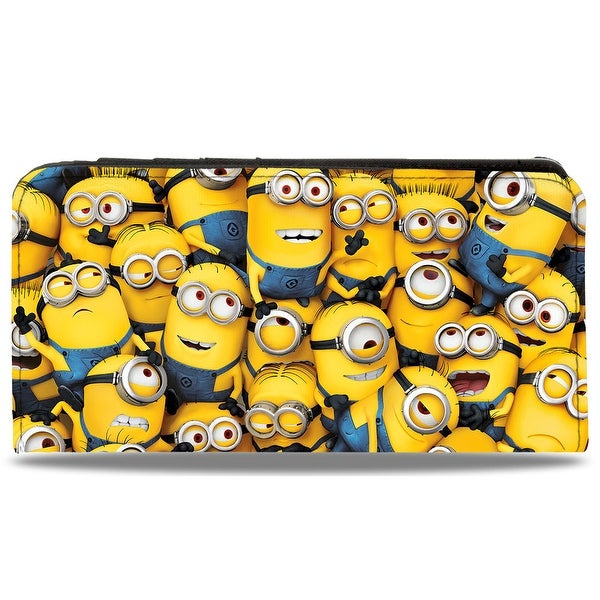 Minions Stacked + Evil Minions 1 Minion Canvas Snap Wallet - One Size Fits most