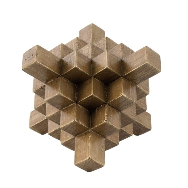 """8.25"""" Gold Classical Style Geometric Table Decor - N/A"""