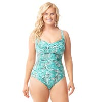 Sea & Sand Beachwear Twist Front One Piece Bathing Suit