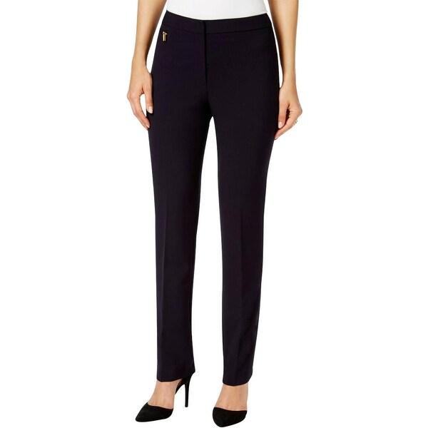 Tahari ASL Womens Petites Dress Pants Flat Front Zipper Pocket