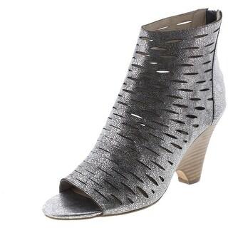 Steven By Steve Madden Womens Cammii Leather Open-Toe Booties - 8.5 medium (b,m)