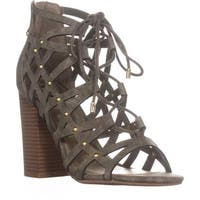 G by GUESS Juto6 Caged Gladiator Sandals, Medium Green