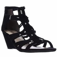 Bar III Womens Kaylan Fabric Open Toe Special Occasion Platform Sandals
