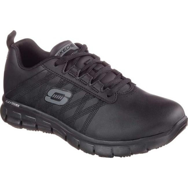 Shop Skechers Women s Work Relaxed Fit Sure Track Erath Slip Resistant  Black - On Sale - Free Shipping Today - Overstock - 10368586 3c8f562a5
