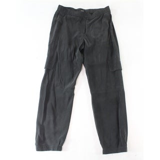 Theory NEW Black Women's Size Medium M Elastic-Waist Pants Silk