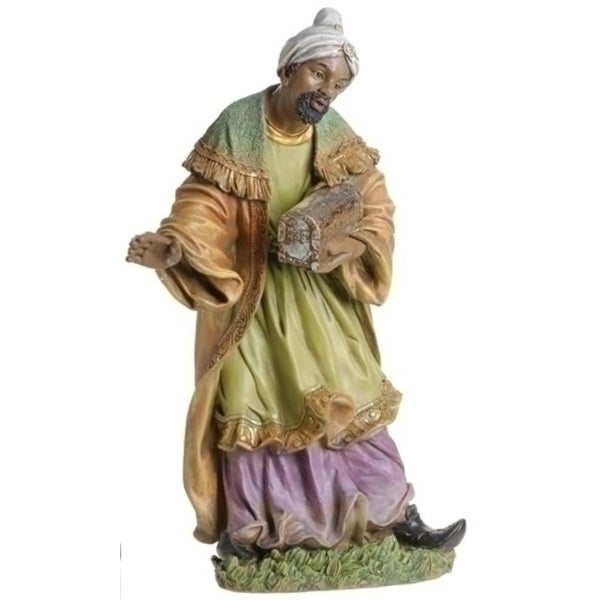 "27.5"" Joseph's Studio King Balthazar Religious Christmas Nativity Statue - green"