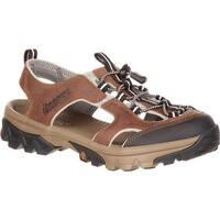 Rocky Women's Endeavor Point Hiking Sandal Brown Full Grain Leather