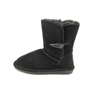 Bearpaw Abigail Youth Youth Round Toe Suede Black Winter Boot