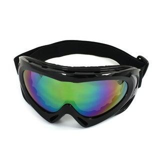 Unisex Black Rimmed Wide Angle Elastic Headband Eyes Protector Goggle Glasses