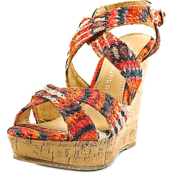 Chinese Laundry Mandisa Women Orange Multi Sandals