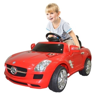 Costway RED MERCEDES BENZ SLS R/C MP3 KIDS RIDE ON CAR ELECTRIC BATTERY TOY