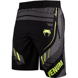 Venum Technical 2.0 Drawstring Waist Fitness Shorts - Black/Yellow