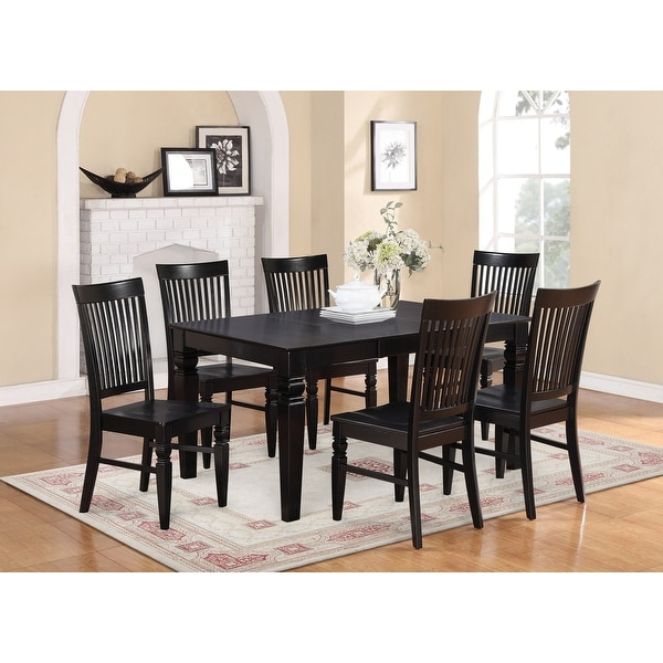 7-piece Dining Table and 6 Dining Chairs. Opens flyout.