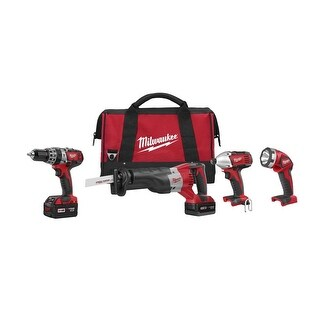 Milwaukee 2696-24 M18 Cordless Compact Combo Tool Kit - Red