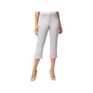 NYDJ Womens Dayla Capri Jeans Wide Cuff Slimming