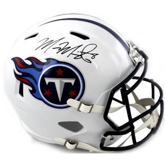 0f5d0f91f Shop Marcus Mariota signed Tennessee Titans Full Size Riddell Speed  Revolution Authentic Helmet 8 black - Free Shipping Today - Overstock -  19871744