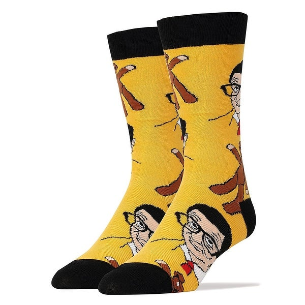 Mr Bean and Teddy Women's Crew Socks - Yellow