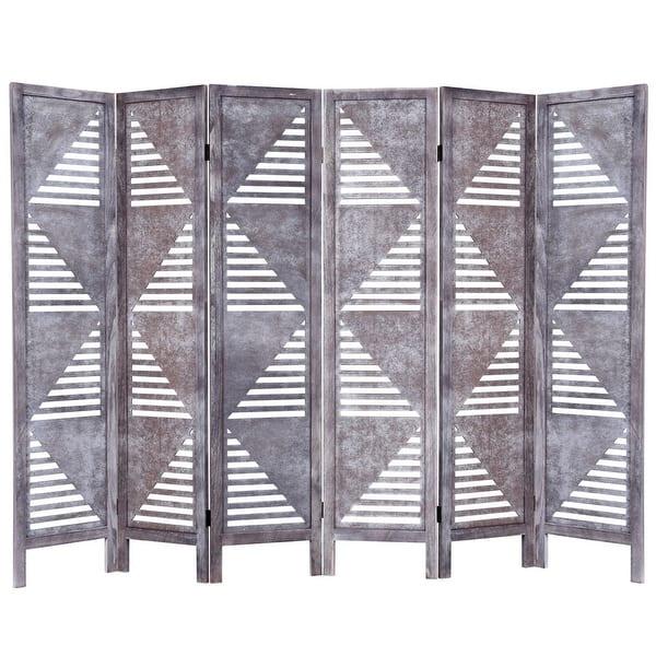 Costway 6 Panel Room Divider Wood Folding Freestanding