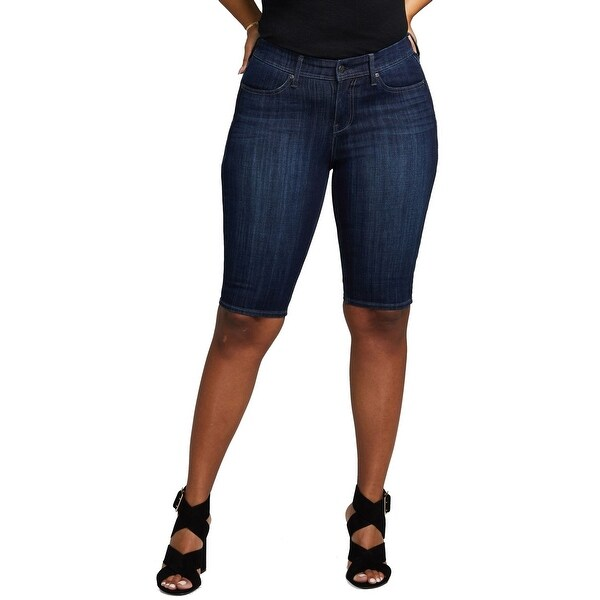 NYDJ Gladiator Blue Womens Size 16 Shape Slim Straight Denim Shorts