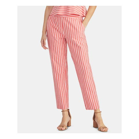 RACHEL ROY Womens Red Striped Pants Size 2