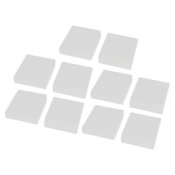 10Pcs Transparent Storage Case Plastic Battery Organizer for AAA Batteries