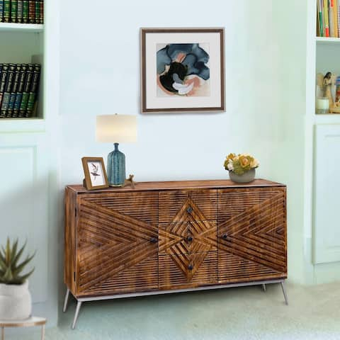 Winik Mango Wood Buffet with 3 Drawers and 2 Doors