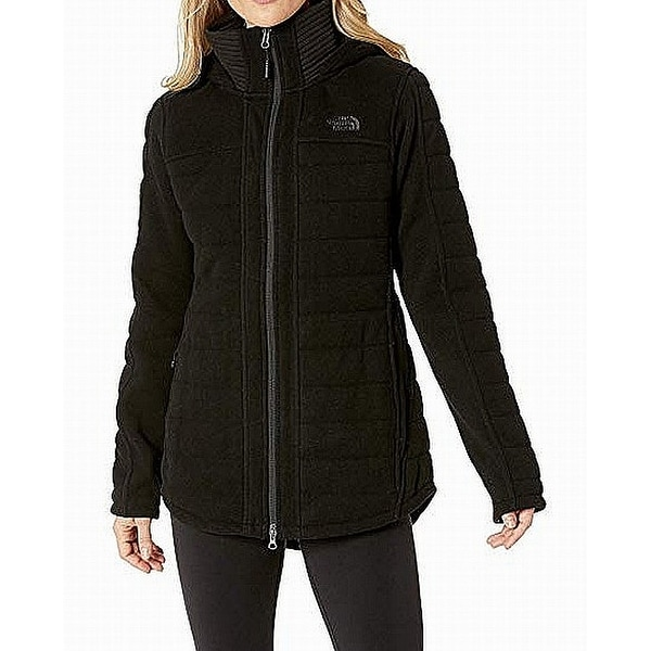 f1d04c0b3 The North Face Black Womens Medium M Full Zip Indi Insulated Parka