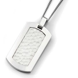 Chisel Titanium Hammered Pendant on Stainless Steel 22in Necklace (2 mm) - 22 in