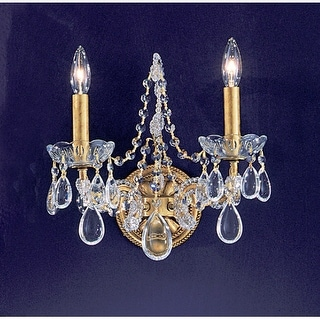 "Classic Lighting 69732-OG 12"" Crystal Wallchiere from the Tivoli Collection"