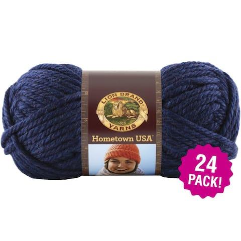 Lion Brand Hometown Usa Yarn 24/Pk-San Diego Navy - Blue