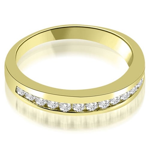 0.45 cttw. 14K Yellow Gold Classic Channel Round Cut Diamond Wedding Band