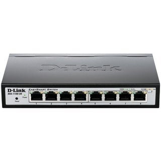 D-Link DGS-1100-08 Ethernet Switch - Manageable - Twisted Pair - (Refurbished)
