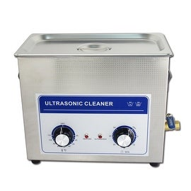6.5L Professional Ultrasonic Cleaner Machine with mechanical Timer Heated Stainless steel Cleaning tank 110V/220V