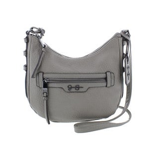 Jessica Simpson Womens Everly Crossbody Handbag Faux Leather Textured - small