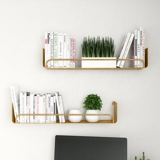 Link to Carson Carrington Lacktorp Modern Wall Shelf (Set of 2) Similar Items in Decorative Accessories